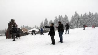 Giresun Yaylalarında Kar Keyfi