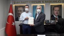 Ak Parti Eynesil'e Hüseyin Mürtezaoğlu'nu atadı