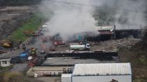 Çavuşlu katı atık tesisinde yangın
