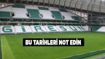 İşte Giresunspor maçlarının tarihleri