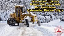 Giresun'da 138 köy yolu ulaşıma kapandı
